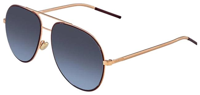 Item - Rose Gold Burgundy Astral Metal Aviator Unisex astral Sunglasses