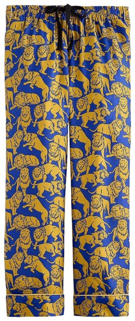 Item - Blue Olive Collection Silk Relaxed In Sleepy Lions Print Pants Size 2 (XS, 26)