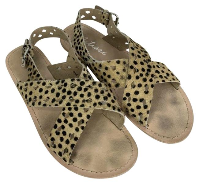 Item - Tan Whistler Leopard Print Perforated Sandals Size US 9 Regular (M, B)