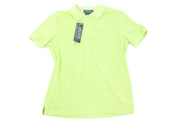 Item - Lime Green Sleeved Terry Cloth Polo Tee Shirt Size 6 (S)