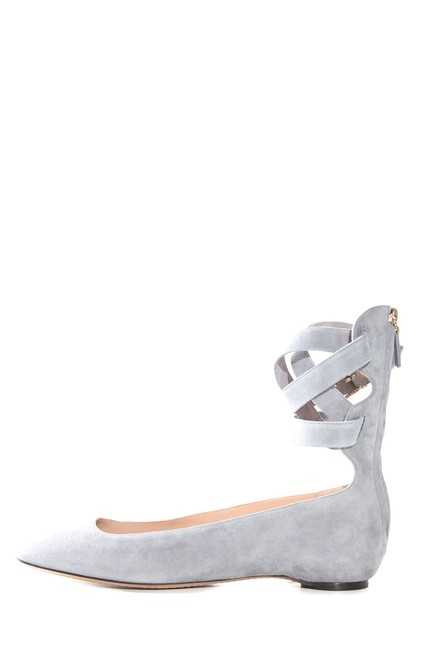 Item - Grey Suede Ankle-strap Flats Size EU 40 (Approx. US 10) Regular (M, B)