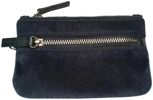 Item - Dark Teal Small Furry Zip Pouch Bag - Barely Used
