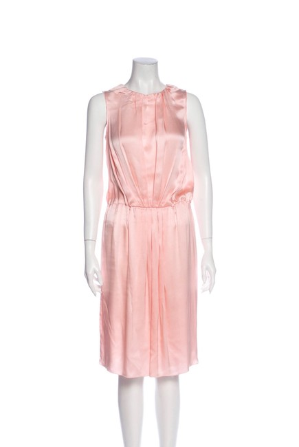 Item - Pink Mid-length Short Casual Dress Size 6 (S)