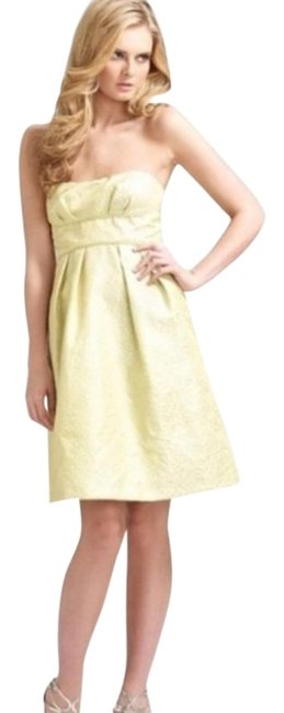 Item - Yellow Nwot Sweetheart Strapless Bcbg Prom Gown Short Cocktail Dress Size 2 (XS)