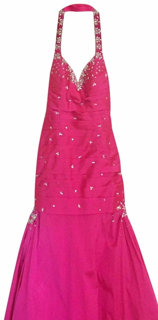 Mori Lee Pink Trumpet Gown Long Formal Dress Size 6 (S) Mori Lee Pink Trumpet Gown Long Formal Dress Size 6 (S) Image 1