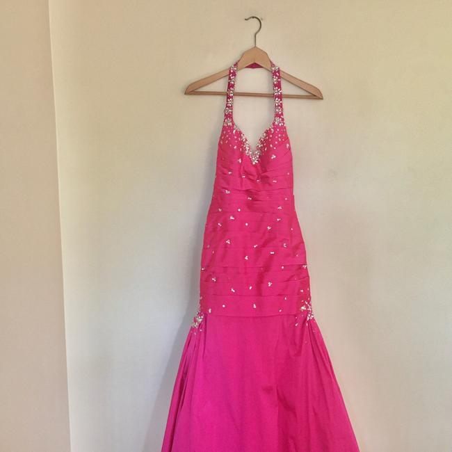 Mori Lee Pink Trumpet Gown Long Formal Dress Size 6 (S) Mori Lee Pink Trumpet Gown Long Formal Dress Size 6 (S) Image 2
