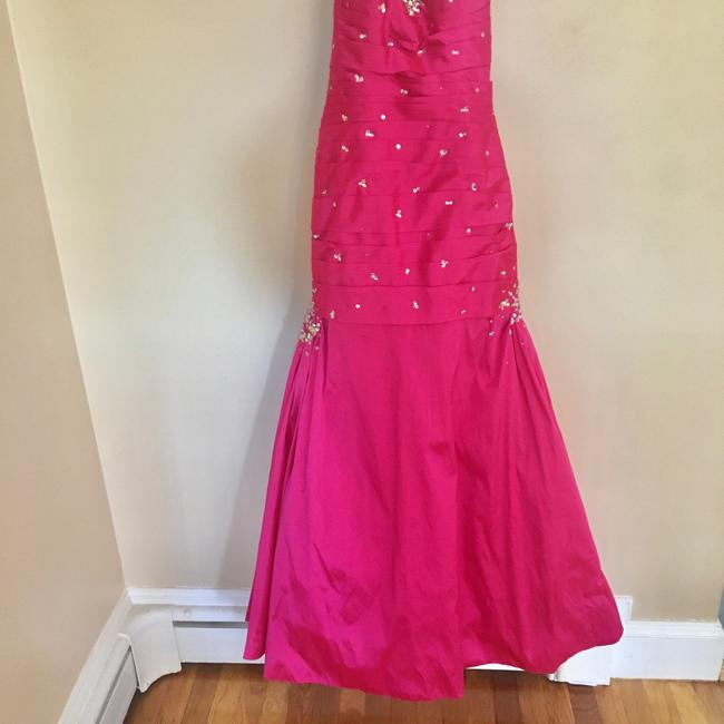 Mori Lee Pink Trumpet Gown Long Formal Dress Size 6 (S) Mori Lee Pink Trumpet Gown Long Formal Dress Size 6 (S) Image 3