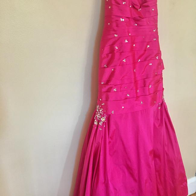 Mori Lee Pink Trumpet Gown Long Formal Dress Size 6 (S) Mori Lee Pink Trumpet Gown Long Formal Dress Size 6 (S) Image 5