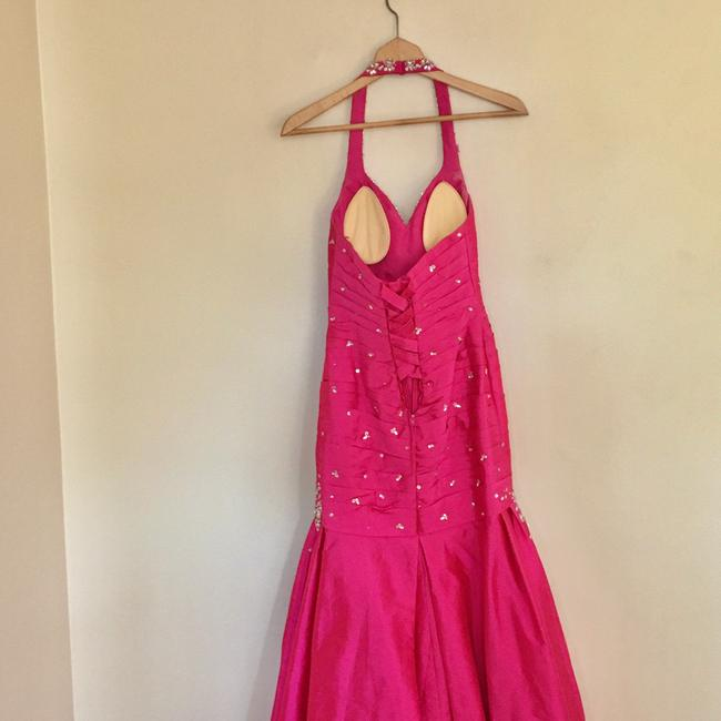 Mori Lee Pink Trumpet Gown Long Formal Dress Size 6 (S) Mori Lee Pink Trumpet Gown Long Formal Dress Size 6 (S) Image 6