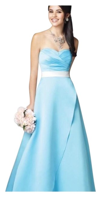 Alfred Angelo Blue Jay Two Tone Satin Gown Long Formal Dress Size 6 (S) Alfred Angelo Blue Jay Two Tone Satin Gown Long Formal Dress Size 6 (S) Image 1