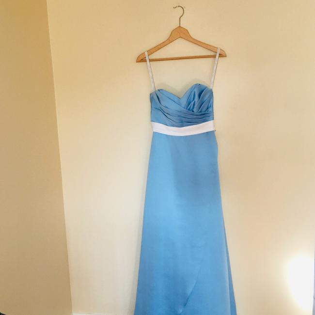 Alfred Angelo Blue Jay Two Tone Satin Gown Long Formal Dress Size 6 (S) Alfred Angelo Blue Jay Two Tone Satin Gown Long Formal Dress Size 6 (S) Image 2
