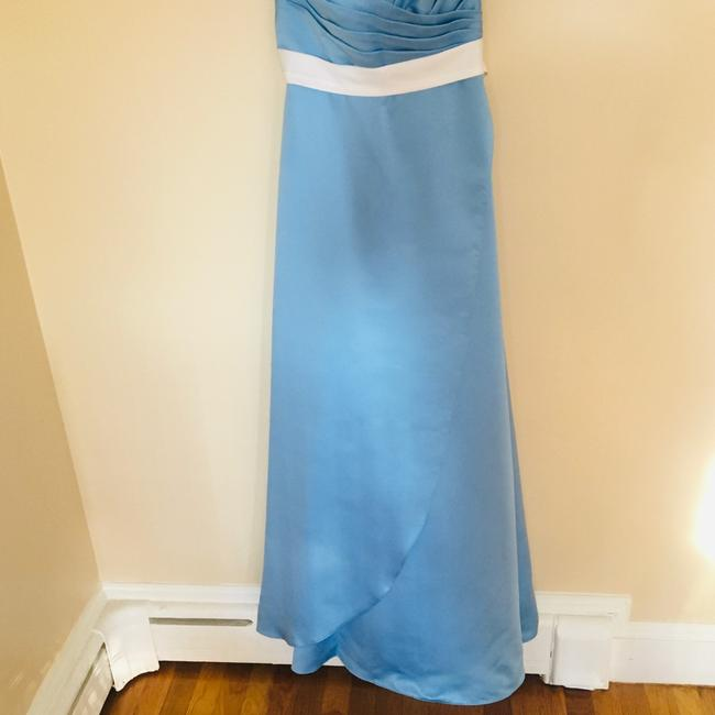 Alfred Angelo Blue Jay Two Tone Satin Gown Long Formal Dress Size 6 (S) Alfred Angelo Blue Jay Two Tone Satin Gown Long Formal Dress Size 6 (S) Image 3