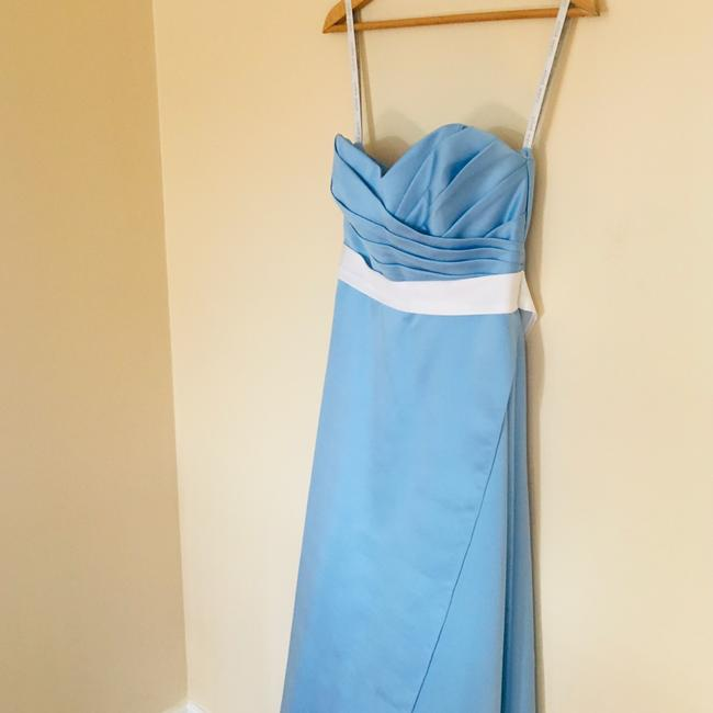 Alfred Angelo Blue Jay Two Tone Satin Gown Long Formal Dress Size 6 (S) Alfred Angelo Blue Jay Two Tone Satin Gown Long Formal Dress Size 6 (S) Image 4