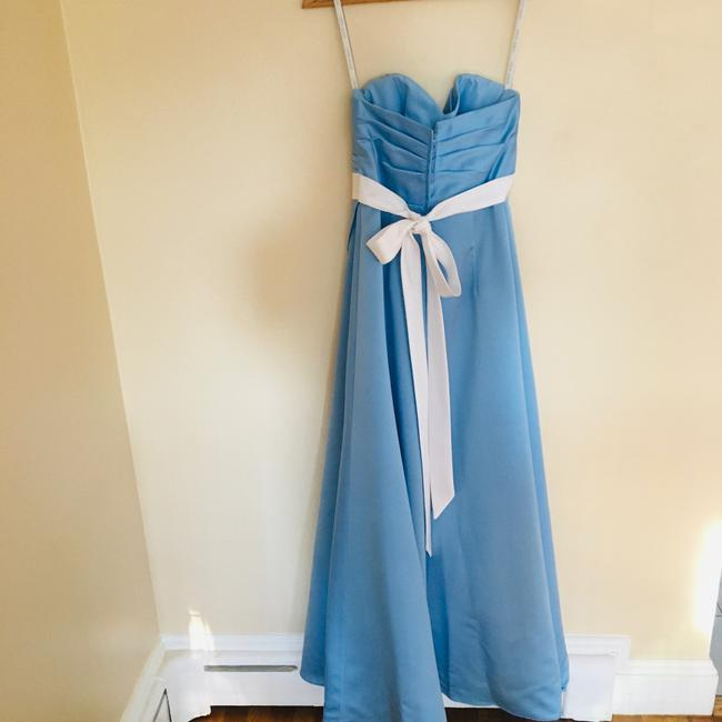 Alfred Angelo Blue Jay Two Tone Satin Gown Long Formal Dress Size 6 (S) Alfred Angelo Blue Jay Two Tone Satin Gown Long Formal Dress Size 6 (S) Image 5