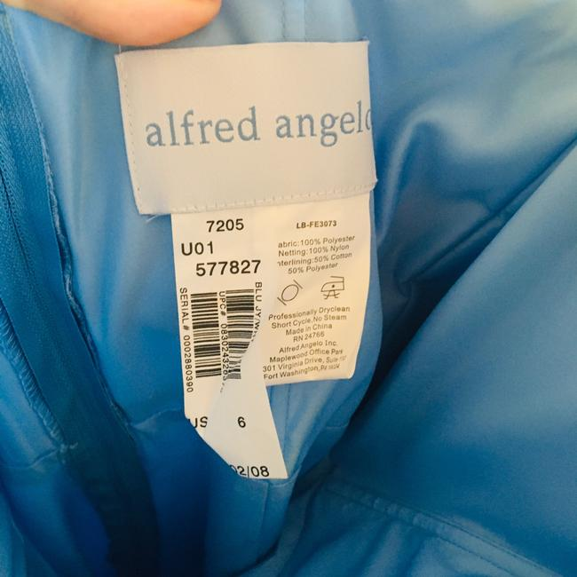 Alfred Angelo Blue Jay Two Tone Satin Gown Long Formal Dress Size 6 (S) Alfred Angelo Blue Jay Two Tone Satin Gown Long Formal Dress Size 6 (S) Image 7