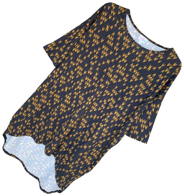 Item - Black/Gold Irma Tunic Size 6 (S)