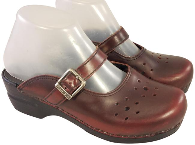 Item - Black Cherry Woman Mary Janes Leather Mules/Slides Size EU 37 (Approx. US 7) Regular (M, B)