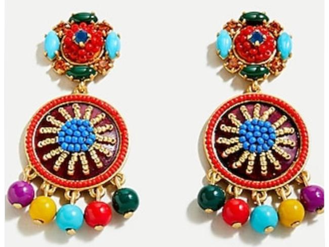 Item - Multicolor Beaded Drops Earrings
