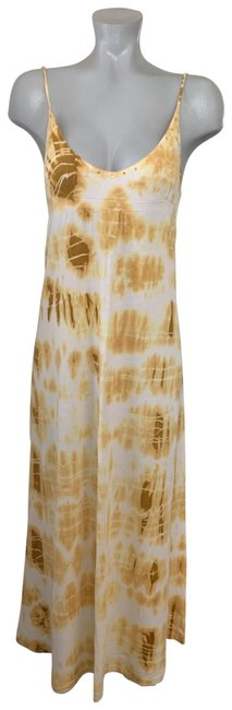 Item - Yellow Tie-dye Long Casual Maxi Dress Size Petite 6 (S)