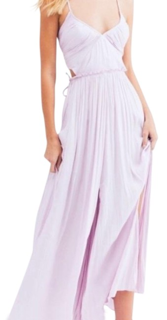 Free People Lilac Maxi Long Formal Dress Size 12 (L) Free People Lilac Maxi Long Formal Dress Size 12 (L) Image 1