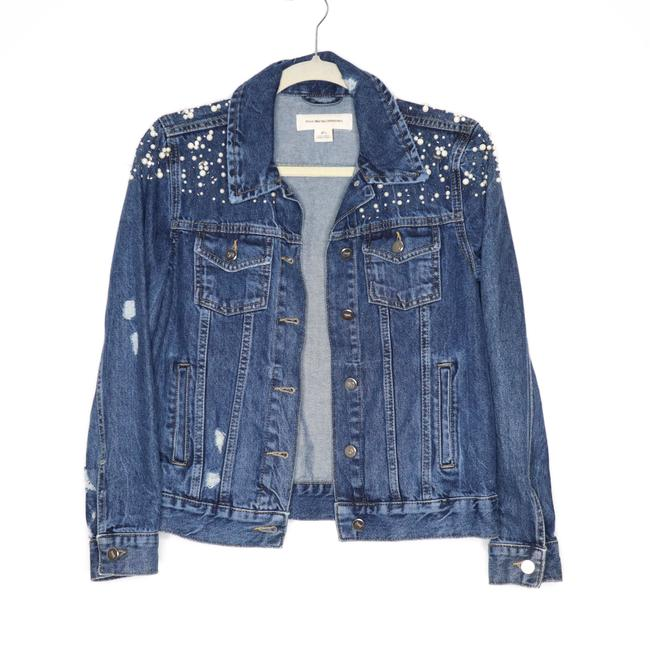 Item - Pilcro and The Letterpress Blue Pearl Trucker Jacket Size 4 (S)