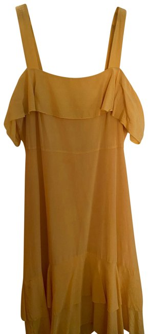 Item - Yellow Collection Silk Long Casual Maxi Dress Size 6 (S)