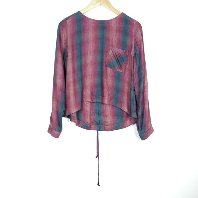 BP. Clothing Blue Pink And Back Shirt Blouse Size 4 (S) BP. Clothing Blue Pink And Back Shirt Blouse Size 4 (S) Image 1