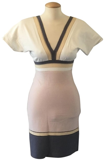 Item - Multicolor Mid-length Short Casual Dress Size 6 (S)