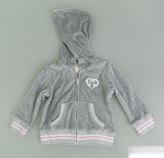 Item - Gray W Long Sleeve Track Top W/Heart Gg Detail 3-6 Month 265372 Groomsman Gift