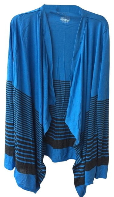 Item - Blue and Black Wrap Maternity Top Size 4 (S, 27)