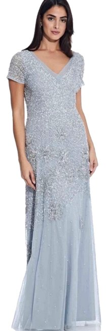 Item - Blue Beaded Sequin-embellished Gown Long Formal Dress Size 2 (XS)