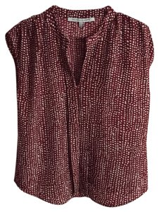 Collective Concepts Top Maroon with White dots