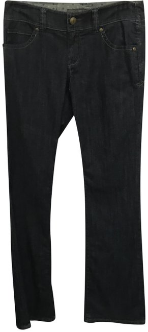 Item - Blue Dark Rinse Retro Inspired Wide Boot Cut Jeans Size 27 (4, S)