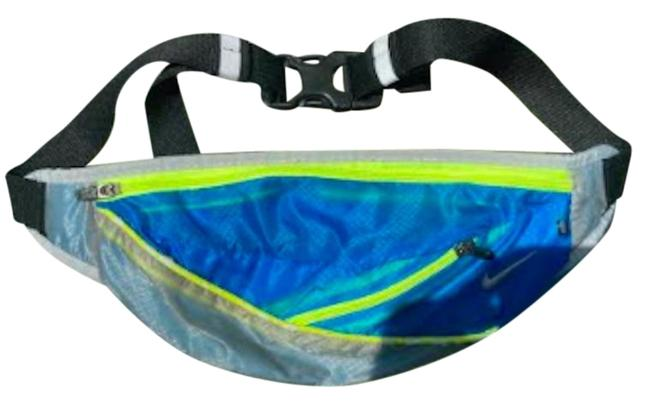 Item - Blue and Neon Yellow Running Belt with Large Small Pockets
