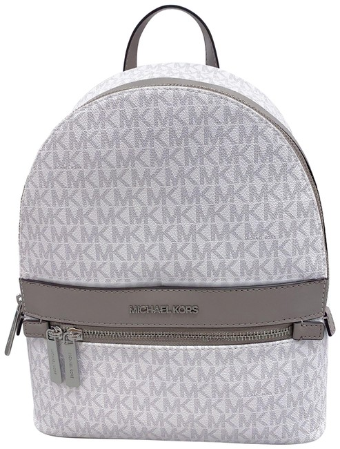 Item - Kenly Signature Bright White Silver Canvas Backpack