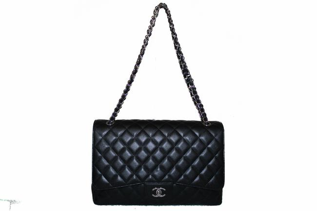 Chanel Classic Flap Quilted Maxi Single Black Caviar Leather Shoulder Bag Chanel Classic Flap Quilted Maxi Single Black Caviar Leather Shoulder Bag Image 2