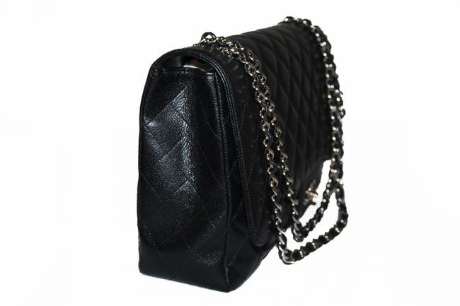 Chanel Classic Flap Quilted Maxi Single Black Caviar Leather Shoulder Bag Chanel Classic Flap Quilted Maxi Single Black Caviar Leather Shoulder Bag Image 3
