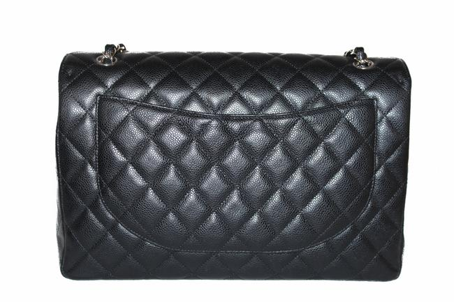 Chanel Classic Flap Quilted Maxi Single Black Caviar Leather Shoulder Bag Chanel Classic Flap Quilted Maxi Single Black Caviar Leather Shoulder Bag Image 4