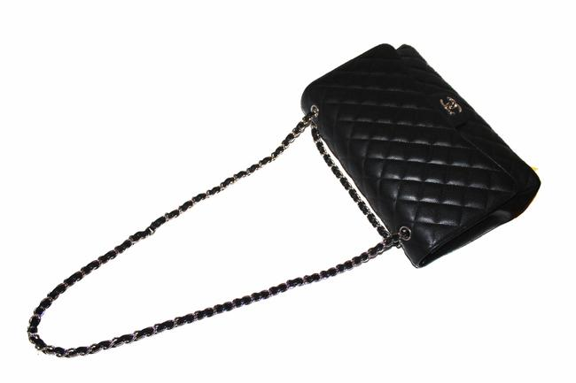 Chanel Classic Flap Quilted Maxi Single Black Caviar Leather Shoulder Bag Chanel Classic Flap Quilted Maxi Single Black Caviar Leather Shoulder Bag Image 6