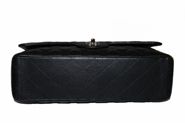 Chanel Classic Flap Quilted Maxi Single Black Caviar Leather Shoulder Bag Chanel Classic Flap Quilted Maxi Single Black Caviar Leather Shoulder Bag Image 7