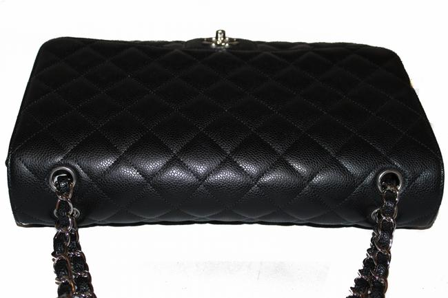 Chanel Classic Flap Quilted Maxi Single Black Caviar Leather Shoulder Bag Chanel Classic Flap Quilted Maxi Single Black Caviar Leather Shoulder Bag Image 8