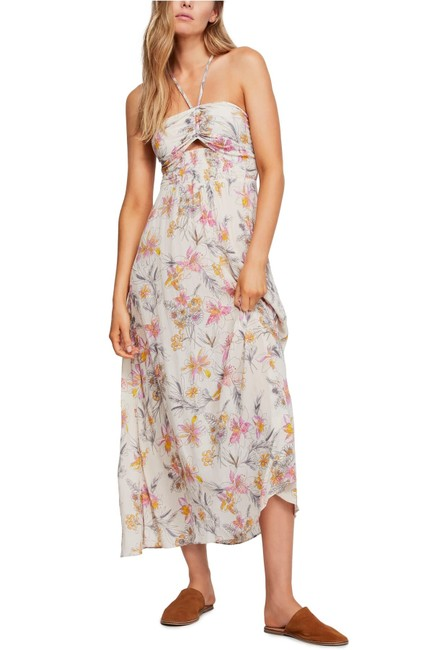 Item - Cream Combo One Step Ahead Floral Slip Long Casual Maxi Dress Size 6 (S)