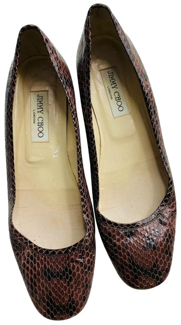 Item - Brown Snakeskin Flats Size EU 38 (Approx. US 8) Regular (M, B)
