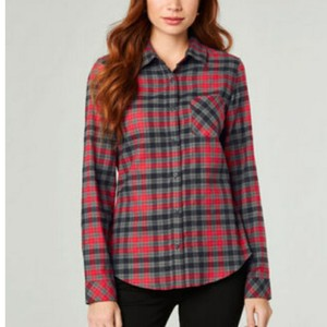 Pendleton Button Down Shirt Black and Red