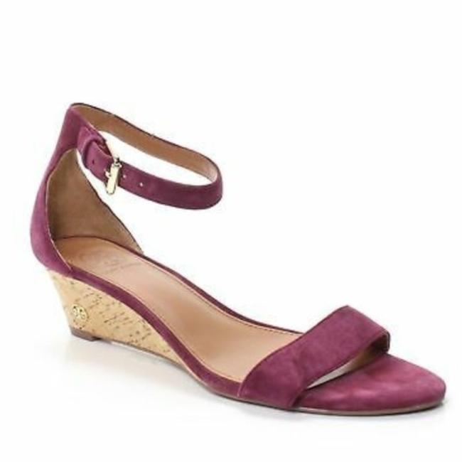 Item - Purple Red Savannah Suede Demi-wedge Sandal Wedges Size US 5.5 Regular (M, B)