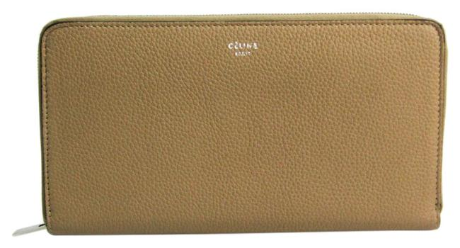 Item - Beige / Red Color Long Ziped Multifunction 105003 Women's Calfskin (Bi-fold) Wallet