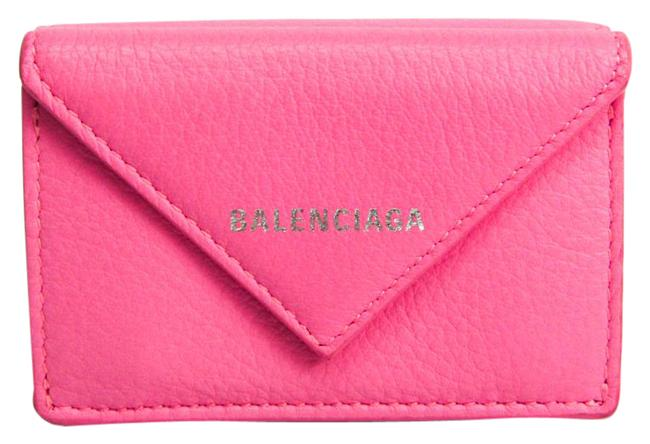 Item - Pink Paper Mini 391446 Women's Leather (Tri-fold) Wallet