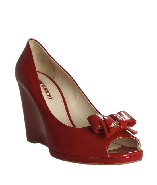 Item - Red Patent Leather (188324) Wedges Size US 11 Regular (M, B)