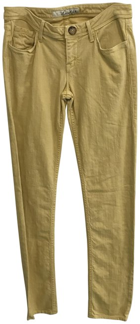 Item - Mustard Yellow Light Wash Tapered Five-pocket Straight Leg Jeans Size 27 (4, S)