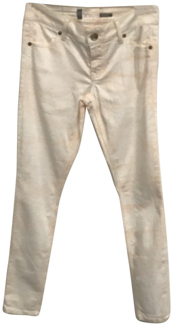 Item - Pink and White Light Wash Tie Dye Effect Jeggings Size 27 (4, S)